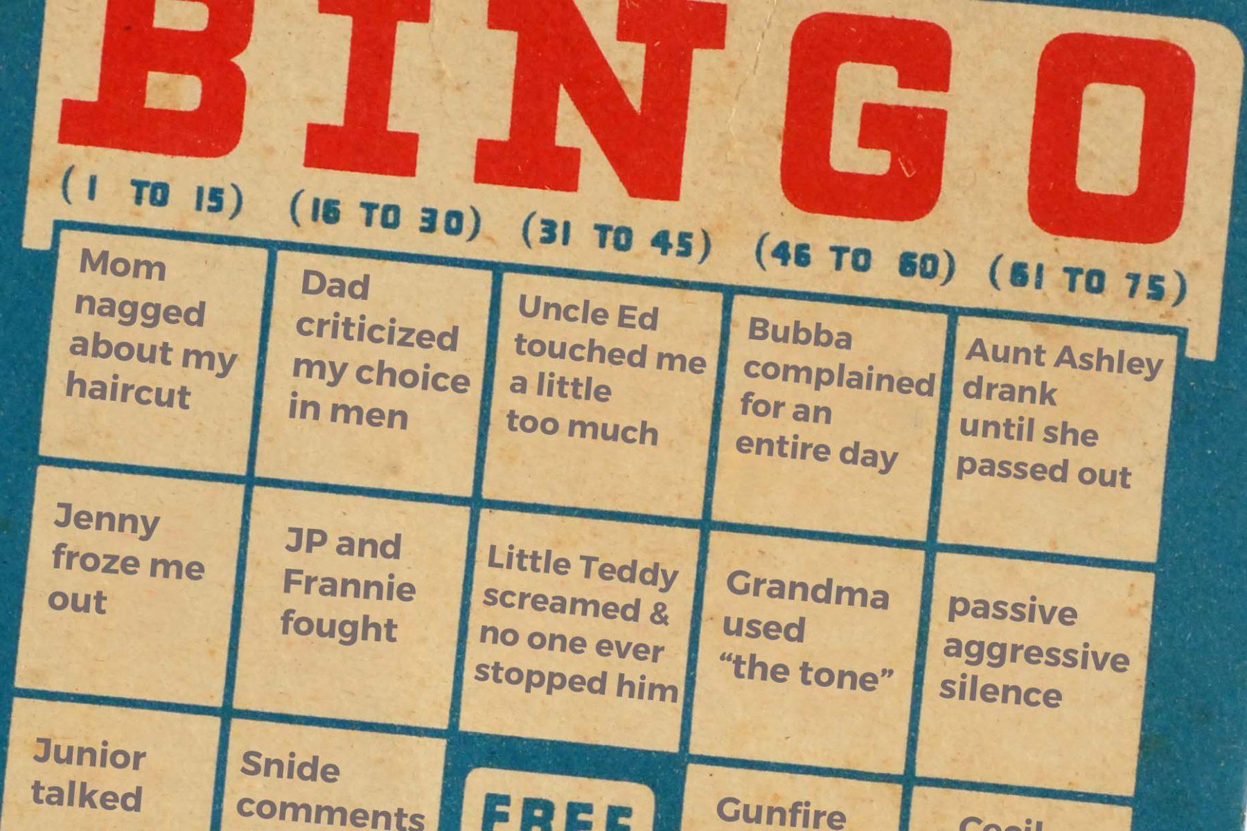 dysfunctional family bingo ellen yale coaching